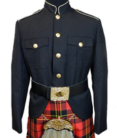 Class A Honor Guard Kilt Jacket (Black/Gold)