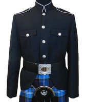 Class A Honor Guard Kilt Jacket (Black/Silver)