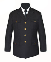 Single Breasted Honor Guard Jacket Black