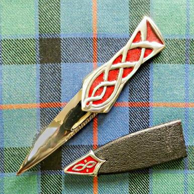 Red Enamel & Silver Sgian Dubh