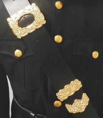 Black and Gold Cross Belt