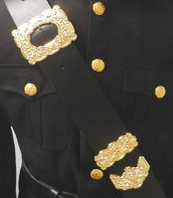 Drummer's Cross Belt Black and Gold