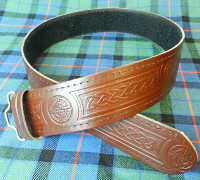 Brown Celtic Knot Kilt Belt
