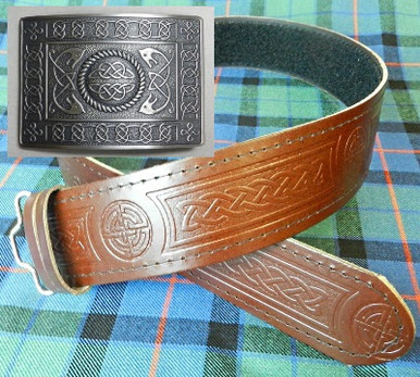 Brown Kilt Belt and Serpent Buckle