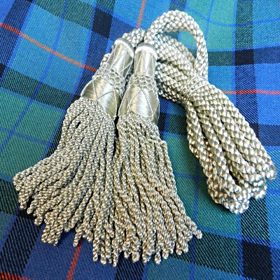 Pipe Cords For Drones Of Bagpipes Silk Silver Pipe Cords High Quality Wind & Woodwind Beads & Jewelry Making