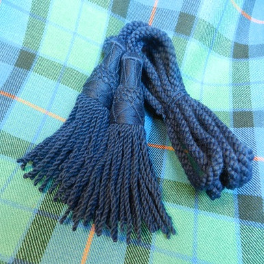 Navy Wool Drone Cords
