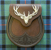 Brown Stag Head Sporran