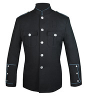 Black Honor Guard Jacket w/ Powder Blue