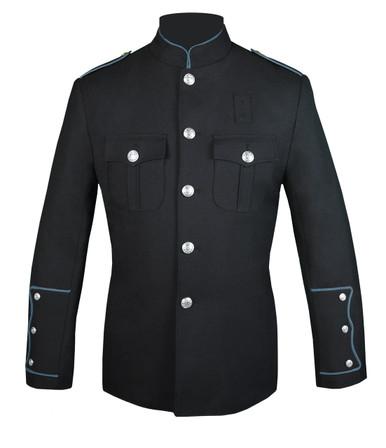 Black Honor Guard Jacket w/ Powder Blue
