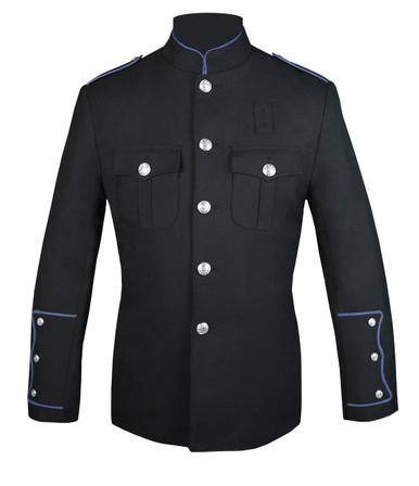 Black Honor Guard Jacket w/ Columbia Blue Trim