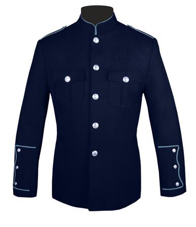 Navy Honor Guard Jacket w/ Powder Blue Trim