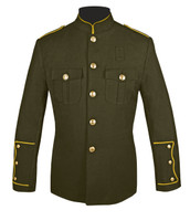 Olive Honor Guard Jacket w/ Gold Trim