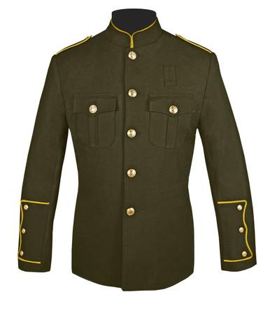 Olive Honor Guard Jacket w/ Gold Trim