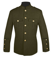 Olive Honor Guard Jacket w/ Black Trim