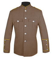 Tan Honor Guard Jacket w/ Gold Trim