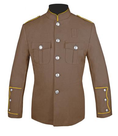 Tan Honor Guard Jacket w/ Gold Trim