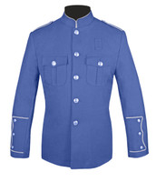 Lt Blue Honor Guard Jacket w/ Silver Trim