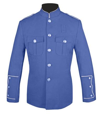 Lt Blue Honor Guard Jacket w/ Silver Trim