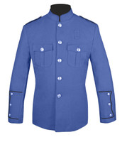 Lt Blue Honor Guard Jacket w/ Black Trim