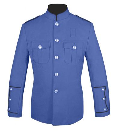 Lt Blue Honor Guard Jacket w/ Black Trim