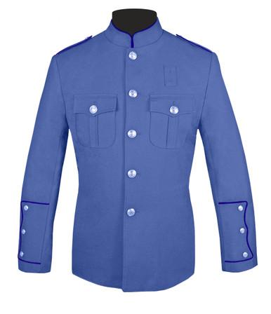 Lt Blue Honor Guard Jacket w/ Navy Trim