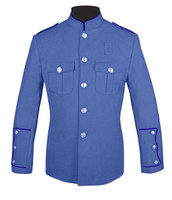 Lt Blue Honor Guard Jacket w/ Navy Trim