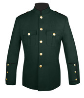 Dark Green Honor Guard Jacket w/ Black Trim