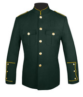 Dark Green Honor Guard Jacket w/ Gold Trim