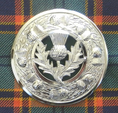 plaid brooch