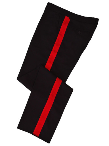 Black w/ Red Stripe Honor Guard Pants