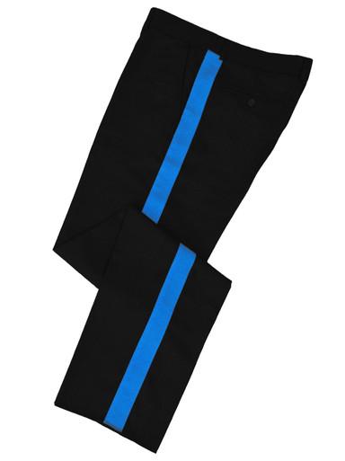 Black w/ Medium Blue Stripe Honor Guard Pants