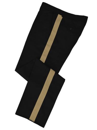 Black w/ Tan Stripe Honor Guard Pants