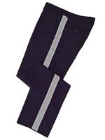 Navy w/ Silver Stripe Honor Guard Pants