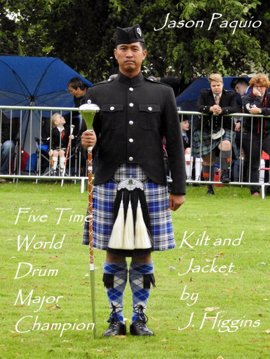 Jason Paguio wears J. Higgins Kilt & Jacket