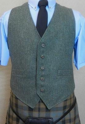 Lovat Green Tweed Kilt Vest