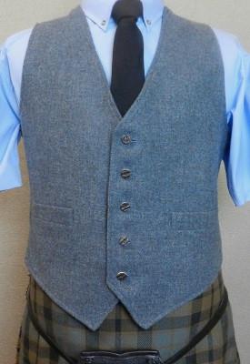 """54/"""" Blue Tweed Scottish Kilt Jacket with Waistcoat Sizes 36/"""""""