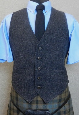 Charcoal Tweed Kilt Vest