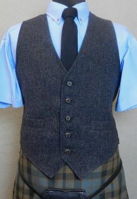 Charcoal Tweed Kilt Vest