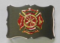 Kilt Belt Buckle with Red & Gold Maltese