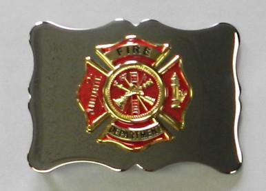 Kilt Belt Buckle with Red & Gold Maltese