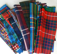 Assorted tartans