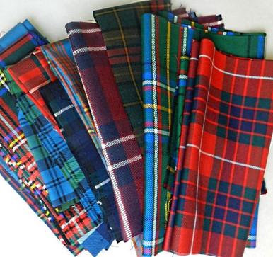 Assorted tartans