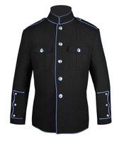 Black HG Jacket with Columbia Blue Full Trim