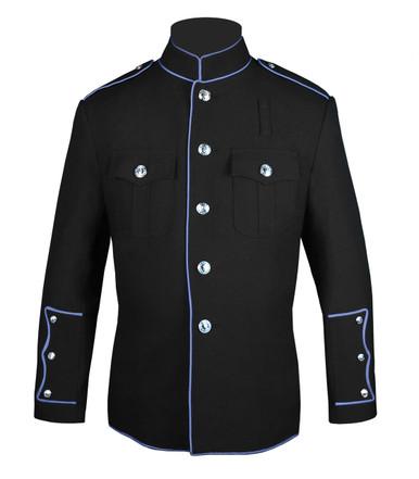 Black HG Jacket with Columbia Blue Full Trim
