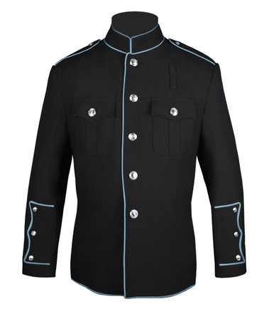 Black HG Jacket with Powder Blue Full Trim
