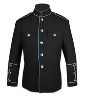 Black HG Jacket with Powder Blue Full Trim