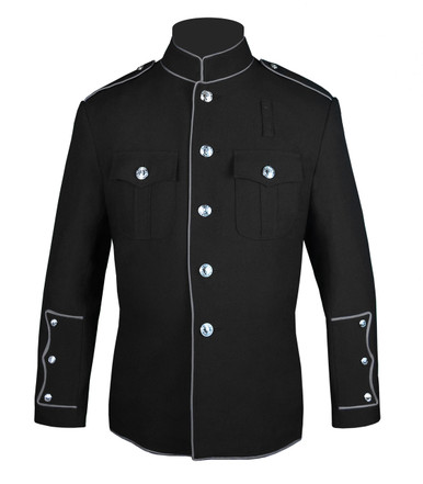 Black HG Jacket with Full Silver Trim