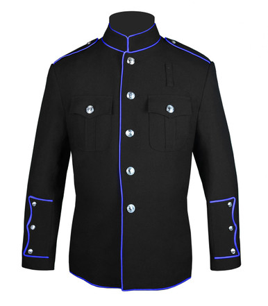 Black HG Jacket with Full Royal Trim