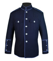 High Collar HG Navy Jacket with Full Columbia Blue Trim