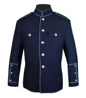 Navy HG Jacket with Powder Blue Full Trim